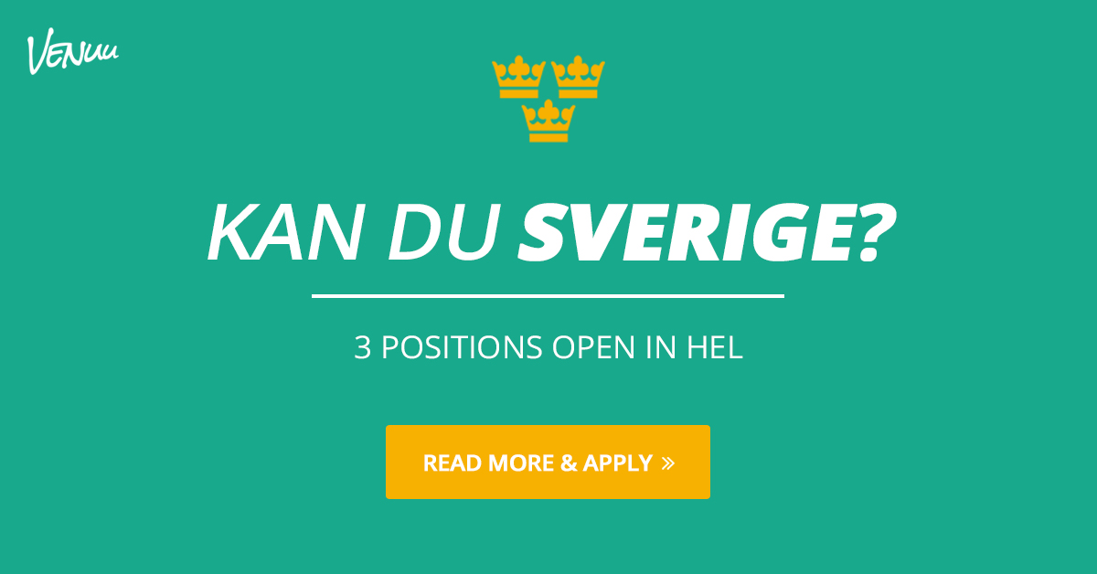 3 open positions for Swedish-speaking talents in Helsinki